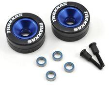 Traxxas 5186A Blue Aluminum Wheelie Bar Wheels & Rubber Tires : Rustler VXL XL5