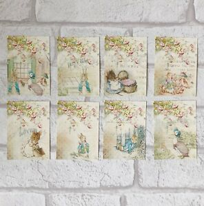 Peter Rabbit Card Toppers, Gift Tags Craft Make Your Own, Vintage, Easter