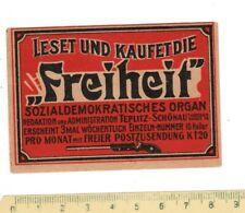 Old Matchbox  label/s 4 AUSTRIA / CZECHOSLOVAKIA