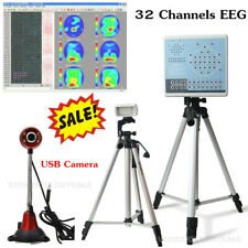 Digital Brain Electric Activity Mapping 32 channels EEG auto-analysis+video USB