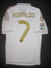 79988cb39 2011 2012 Adidas Real Madrid Cristiano Ronaldo Jersey Shirt Kit Home Gold  White