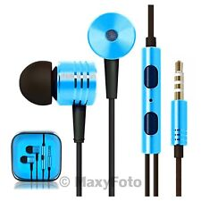 MI35 AURICOLARE STEREO CUFFIE ALLUMINIO IN-EAR POWER BASS BLU JACK 3,5 00010CA