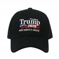 Trump 2020 Keep America Great Campaign Cap Hat Embroidered USA BLACK HAT