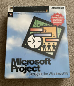 Microsoft Project Designed For Windows 95 - New & Factory Sealed