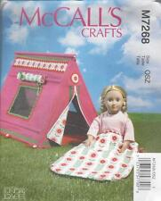 McCALL'S SEWING PATTERN 18 INCH DOLL SLEEPING BAG & TENT  M7268