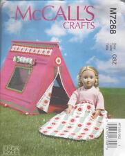 McCall's cucito PATTERN 18 INCH doll Sacco A Pelo & Tenda m7268