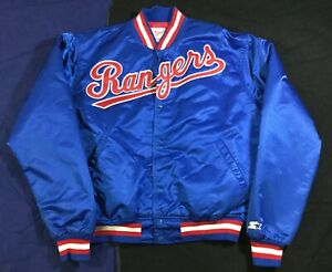 Vintage Rangers Baseball Starter Diamond Collection Jacket SizeXL
