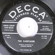 50'S Decca Nos 45 Gordon Jenkins' Seven Dreams - The Caretaker / The Pink Houseb
