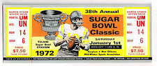 1972  38 th SUGAR BOWL OKLAHOMA vs AUBURN  FULL Ticket Stub