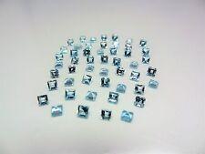 Aquamarine 3x3mm Square Cut Shape Stones Loose Spinel Gemstones LOT