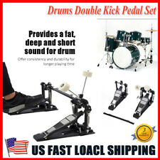 Double Bass Drum Pedal - Twin Kick Drum Pedal Dual Chain Percussion USA SHIPPING
