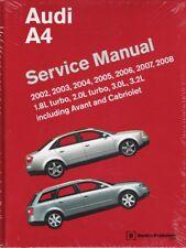 2002 - 2008 Audi A4 Avant Cabriolet Bentley Service Repair Manual Book A408