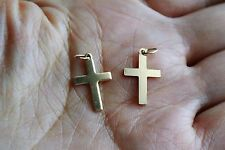 Gold Filled Charm Cross 10x16mm 2pcs
