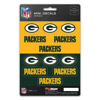 New NFL Green Bay Packers Die-Cut Premium Vinyl Mini Decal / Sticker Pack