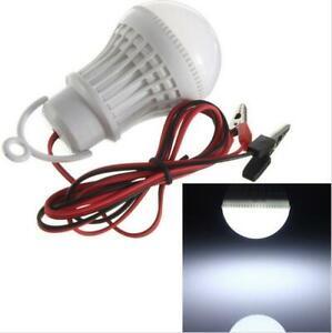 3W 5W 7W LED Bulb 5730 SMD  DC12V Wire Home Camping Solar Hunting Emergency