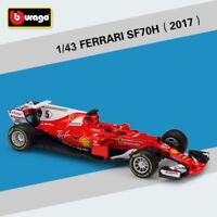 Sebastian Vettel 2017 Ferrari F1 SF70H 5# Racing Car Diecast Model 1:43 Bburago