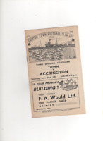 1951-52 GRIMSBY TOWN V ACCRINGTON STANLEY 22nd September 1951 Division 3 North