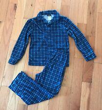 Joe Boxer Blue Plaid 2-Piece Microfleece Pajamas Set Sz 8