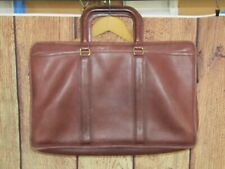 Vintage Coach Brown Leather Briefcase Messenger No 027-7027