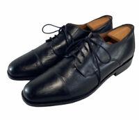 Bostonian Florentine Oxfords cap toe Black Leather Dress shoes men's size 12 M