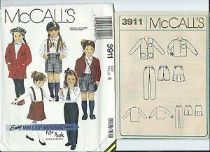 M 3911 sewing pattern JACKET SHIRT SKIRT PANTS SHORTS sew size 6 mix match UNCUT