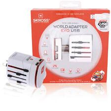 Reise-Adapter World EVO USB ohne Schutzkontakt, weiß - by LIGHT + LIVING