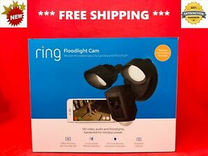 *BRAND NEW* RING FLOODLIGHT  Camera Motion Activated OUTDOOR Security CAM- BLACK
