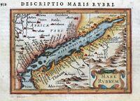 RED SEA, MARE RUBRUM, SAUDI ARABIA, NE.AFRICA, BERTIUS original antique map 1618