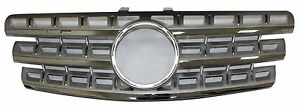 Mercedes Benz W164 ML Class 2009-2011 Front Grille Chrome & Silver ML550 ML350