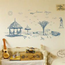 Summer Beach Painting Room Home Decor Removable Wall Sticker Decal Decoration