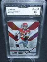 2019 Score EPIX Season Patrick Mahomes II Card #ES3 GMA Graded Gem Mint 10 HOTTT