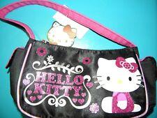 Hello Kitty Girls Satan Black & Pink Purse
