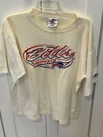Logo Athletic Vintage Buffalo Bills Embroidered White Adult Large Shirt