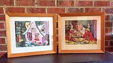 Vintage Rare Art HANSEL & GRETAL JACK & THE BEANSTALK Framed Prints Fairy Tales