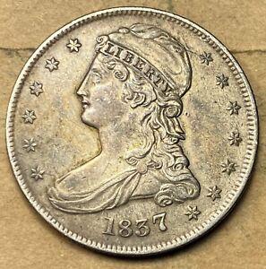 1837 Bust Half Dollar  AU