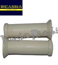 8279 MANOPOLE BIANCHE DM 21 VESPA 50 SPECIAL R L N 125 ET3 PRIVERA + LOGO PIAGG