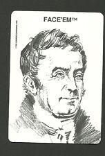 E I Du Pont Gun Powder War of 1812 Face 'Em Collector Card