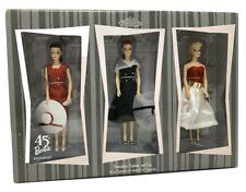 Hallmark 45th Anniversary Barbie Friendship Fashion And Fun Set Of 3 Figurines