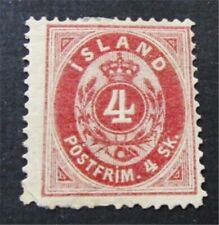 nystamps Iceland Stamp # 2 Mint OG H $175
