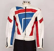 PRO SPORTS LEATHER Mens Jacket Size M Medium Racing Motorcycle Cafe Racer
