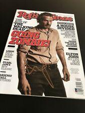 Andrew Lincoln Unterzeichnet Autogramm Rolling Stone Mag die Walking Tot Beckett