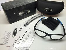 NIB Oakley Crosslink Strike Satin Black Frames Rx Eyeglasses OX8048-0156 W/Case