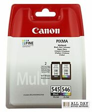 Genuine Canon PG545 Black & CL546 Colour Ink Cartridges for MG2450 & MG2550