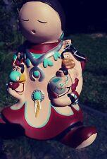 Whitefeather Studios Tuscon, AZ. Storytellers Pottery Woman & 6 Children