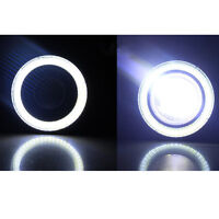 "2Pc 2.5"" COB LED Fog Light Projector Car White Angel Eyes Halo Ring DRL Lamp"
