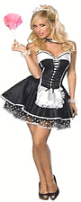 SEXY MAID HALLOWEEN COSTUME SECRET WISHES MEDIUM RUBIE'S FRENCH MAID