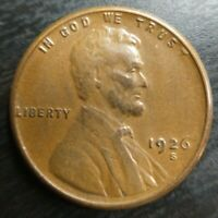 1926-S 1C Lincoln Wheat Cent Penny AU(Weak Reverse) Die Clashed Error