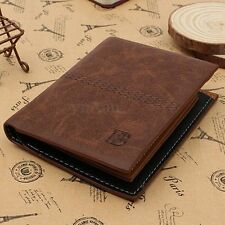 NEW MENS LUXURY SOFT QUALITY GENUINE LEATHER WALLET CREDIT ID CARD HOLDER PURSE
