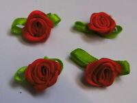 Set á 4 Stück Rose Rosen Aufnäher Patch Roses Applikation 208
