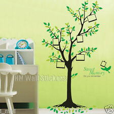 151 CM HEIGHT TREE with photos frames Wall Art Decal for nursery or home